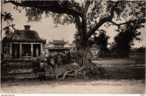 CPA INDOCHINA Haiphong Pagodons route circulaire VIETNAM (958681)
