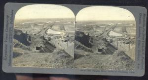REAL PHOTO CHINKIANG CHINA THE YANGZTE RIVER VINTAGE STEREOVIEW CARD CHINESE