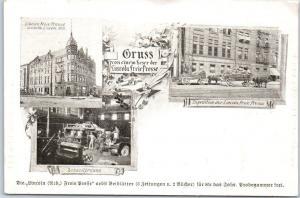 Vintage Nebraska Postcard GRUSS Von Einem Leser der LINCOLN FREIE PRESSE 1900s