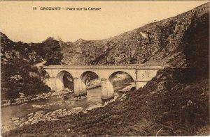 CPA CROZANT Pont sur la Creuse (1144416)