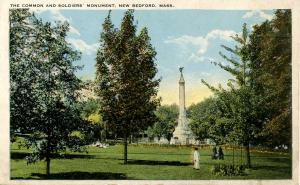 MA - New Bedford. The Common and Soldiers' Monument