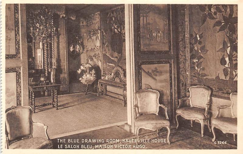 Jersey Victor Hugo\'s House Maison, The Blue Drawing Room, Salon Bleu ...