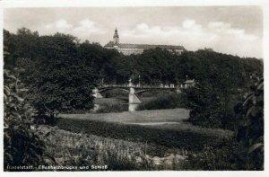 Rudolstadt Elisabethbrucke Und Schlos Bridge Pretty Real Photo Vintage Postcard