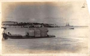 Real Photo  USS N. Dakota Ship in Cuba L684