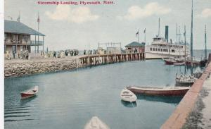 PLYMOUTH , Massachusetts, 1900-1910's; Steamship Landing