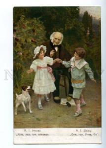 149037 Granddad Kids FOX TERRIER by ELSLEY vintage PC
