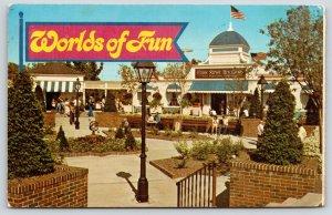 Kansas City MO~Front Street Plaza~Dry Goods~Worlds Of Fun Amusement Park~1970s