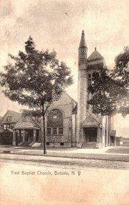 New York Batavia First Baptist Church 1908
