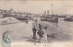 BOULOGNE-SUR-MER, Sortie du Steamer La Marguerite, France,  PU-1906