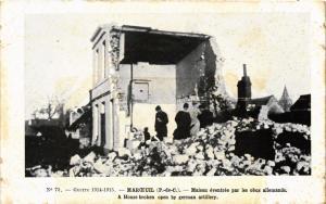 CPA Guerre 1914-1915 Marceuil - Maison eventree par les obus MILITAIRE (731506)