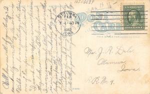 Ottumwa Iowa~Claude Myers Confectionery & Ice Cream House~Cigar Department~1912