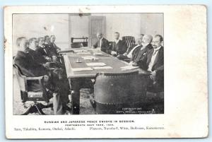 Postcard NH Portsmouth Navy Yard 1905 Russian Japanese War Peace Envoys L14