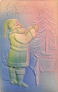 9264   Santa Claus decorating tree