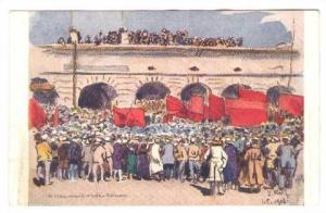 Verchnie-Udinsk , Russia , First May´s Celebration 1918
