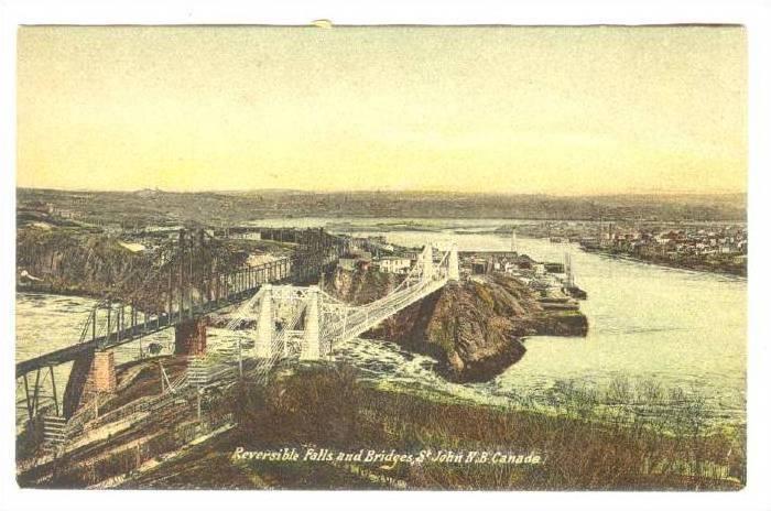 Reveersable Falls and Bridges, St. John, New Brunswick, Canada, 00-10s