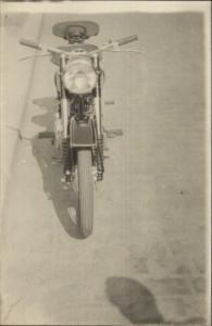 Old Motorcycle - Photograph - Postcard Size Non-Postcard