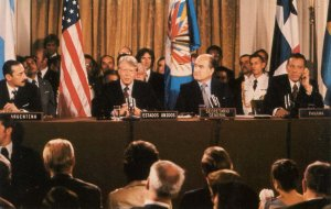 President Jimmy Carter at Panama Treaty Conference