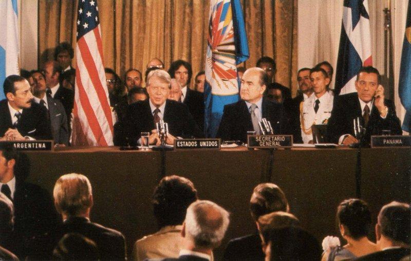President Jimmy Carter at Panama Treaty Conference