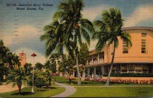 Florida Miami Beautiful Sago Palms ?? Should Be Canary Island Date Palms 1948