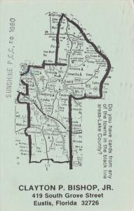 Florida Lake County Postcards Wanted With Map Clayton BIshop 1988