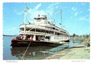 S S Delta Queen, Sternwheeler, Steamboat, at Shore