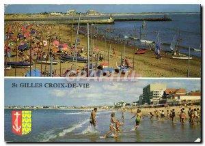 Modern Postcard The Tourist Vendee St Gilles Croix de Vie Beaches