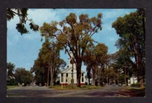 ME Elm & Silver Street WATERVILLE MAINE Postcard Church
