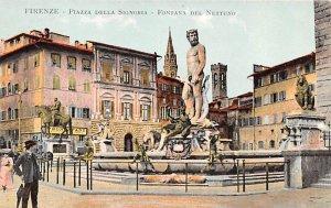 Firenze Piazza Della Signoria Italy Writing on back