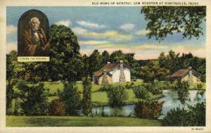 Old Home Of General SamHouston Huntsville TX Unused