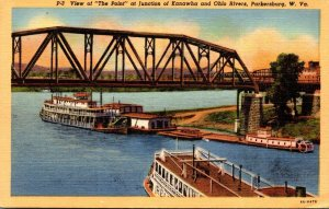 West Virginia Parkersburg View Of The Point At Junction Of Kanawha and Ohio R...
