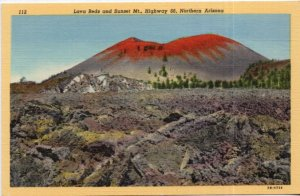 Northern Arizona Lava Beds and Sunset Muntain Highway 66 LINEN