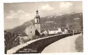 RP: Chur. Kathedrale mit Calanda, Switzerland, 30-40s