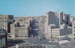 Aerial View, Portage Avenue, Childs Building, Crown Trust Company, ECT., Clas...