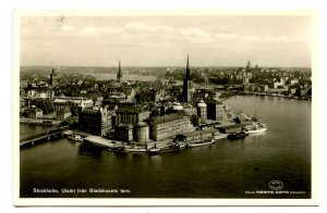 Sweden - Stockholm. View From City Hall Tower   *RPPC