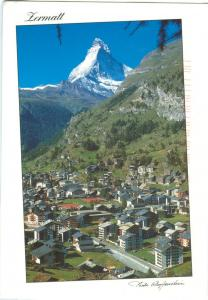 Switzerland, Zermatt, used Postcard