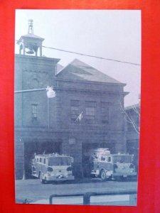 Postcard PA Harrisburg Reily Fire Company Fire Truck Fire Station