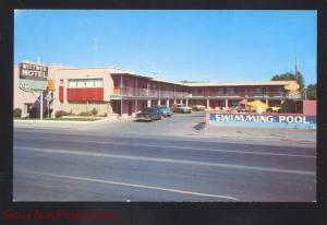 LAS VEGAS NEVADA WITTWER MOTEL RESTAURANT OLD CARS ADVERTISING POSTCARD
