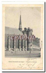 Saint Germain en Laye Postcard Old Chapel and castle