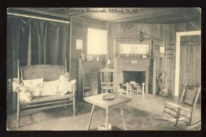 Milford, New Hampshire/NH Postcard, A Corner In Bonnicroft