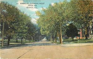D/B Main St. Looking East from 16th Quincy Illinois 1908