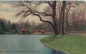 BALTIMORE, Maryland, 1900-1910s ; Boat Lake , Druid Hill Park
