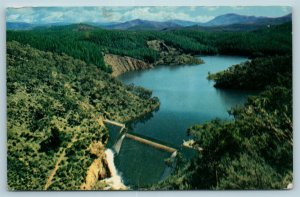 Postcard Australia Aerial View The Cotter Dam Near Canberra AD6