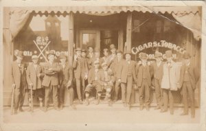 RP: Baseball Players & pool players in front of Billiard Hall , 00-10s