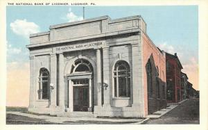 Ligonier Pennsylvania~National Bank Of Ligonier Building~1920s Postcard