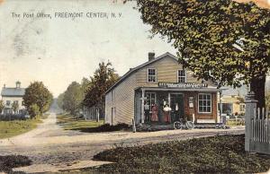 Freemont Center New York Post Office Street View Antique Postcard K37621