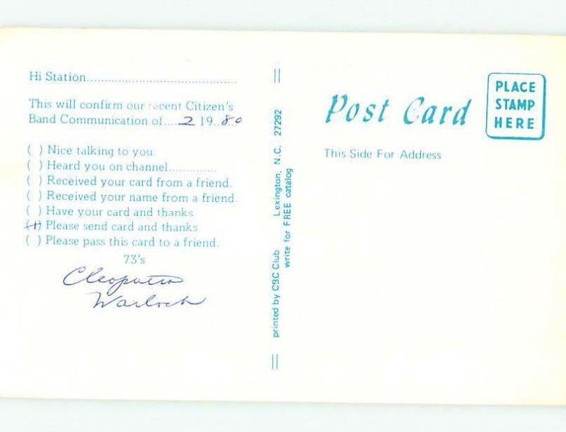 Pre-1980 RADIO CARD - CB HAM OR QSL Dover Delaware DE AH2736