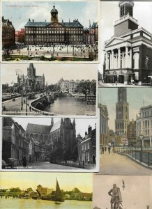 Netherlands - Amsterdam Leiden Utrecht Hillegom & More Postcard Lot of 38 01.03