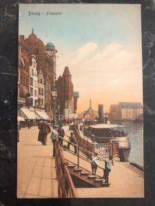 Mint Danzig Germany Picture Postcard Frautentor River View Boats 1910s MXE