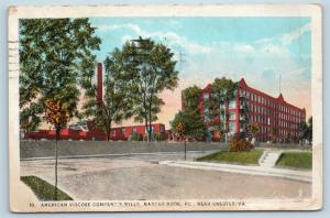 Postcard PA Marcus Hook American Viscose Company Mills Factory Chester c1925 J20