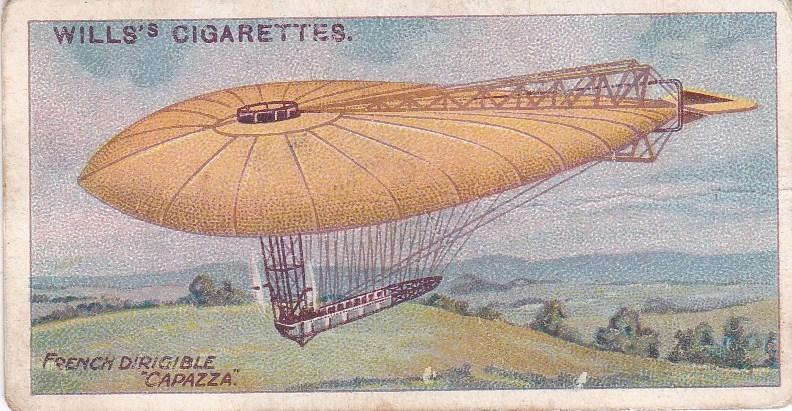 Cigarette Cards Wills AVIATION No 24 French Dirigible Capazza